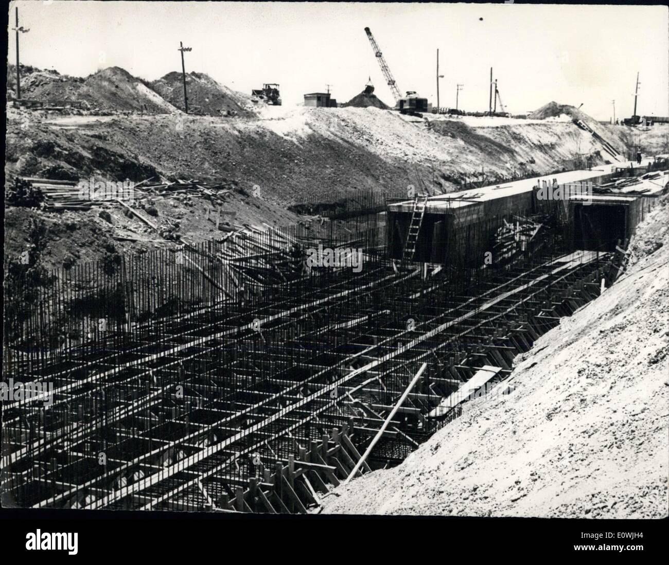 6. Juni 1963 - Kuba. Thermoelektrischen Kraftwerks in Mariel ...