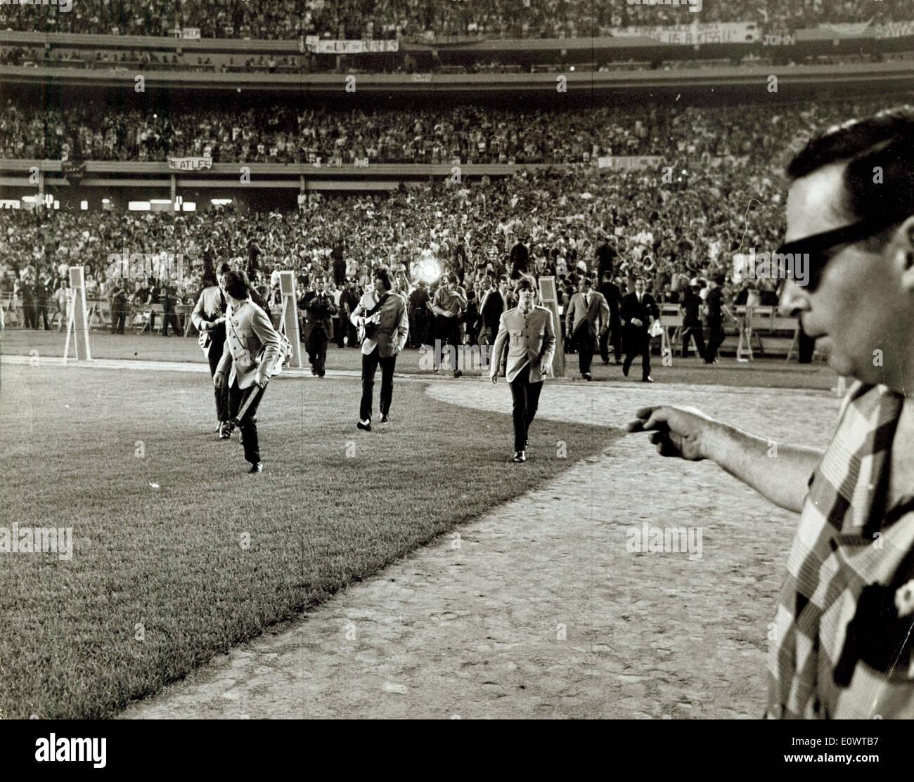 Die Beatles im Shea Stadium Stockfoto