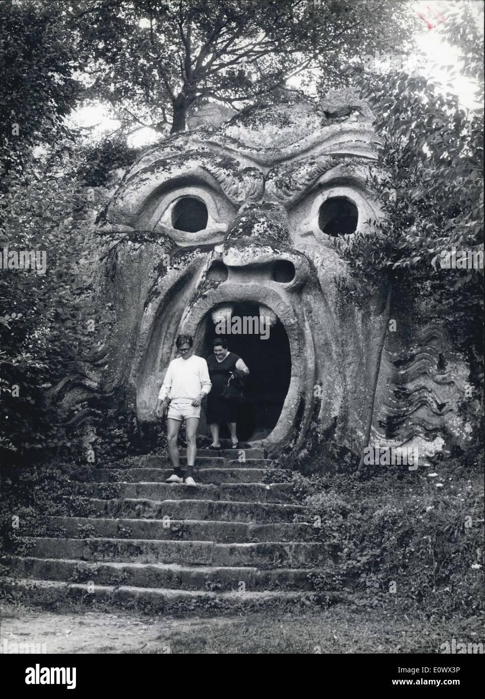 Aug. 00, 1964 - ein 16. Jahrhundert italienischen Geheimnis. -: Monster bevölkern Garten von Bomarzo.: fünfzig Stockbild