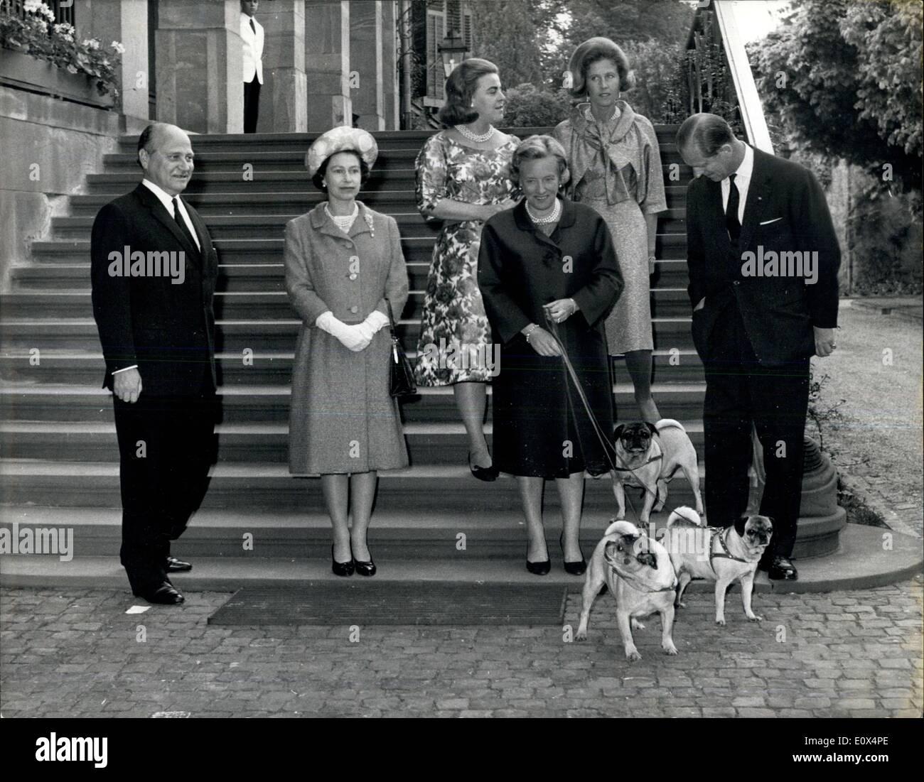 21 mai 1965 the royal tour durch deutschland die queen und prinz philip besuchen verwandte. Black Bedroom Furniture Sets. Home Design Ideas