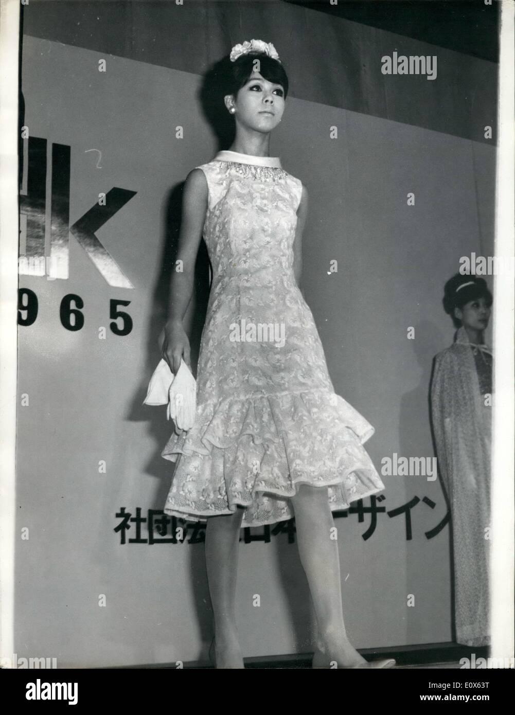 5. Mai 1965 - Mode aus Japan. Mitglieder des Vereins Japan Designer ...