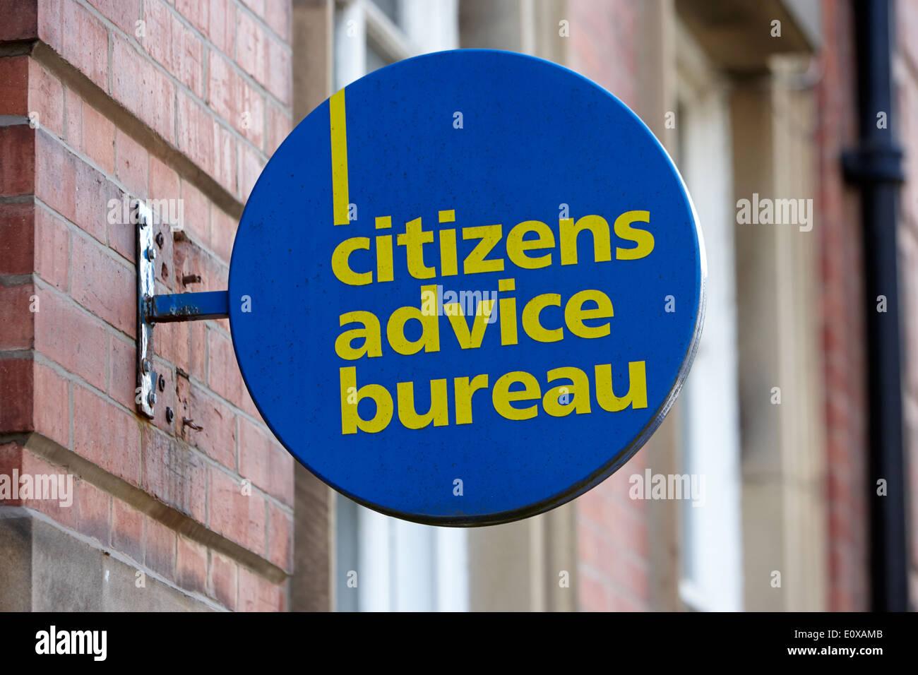 Bürgerinnen und Bürger Beratung Büro Zeichen Preston England UK Stockbild