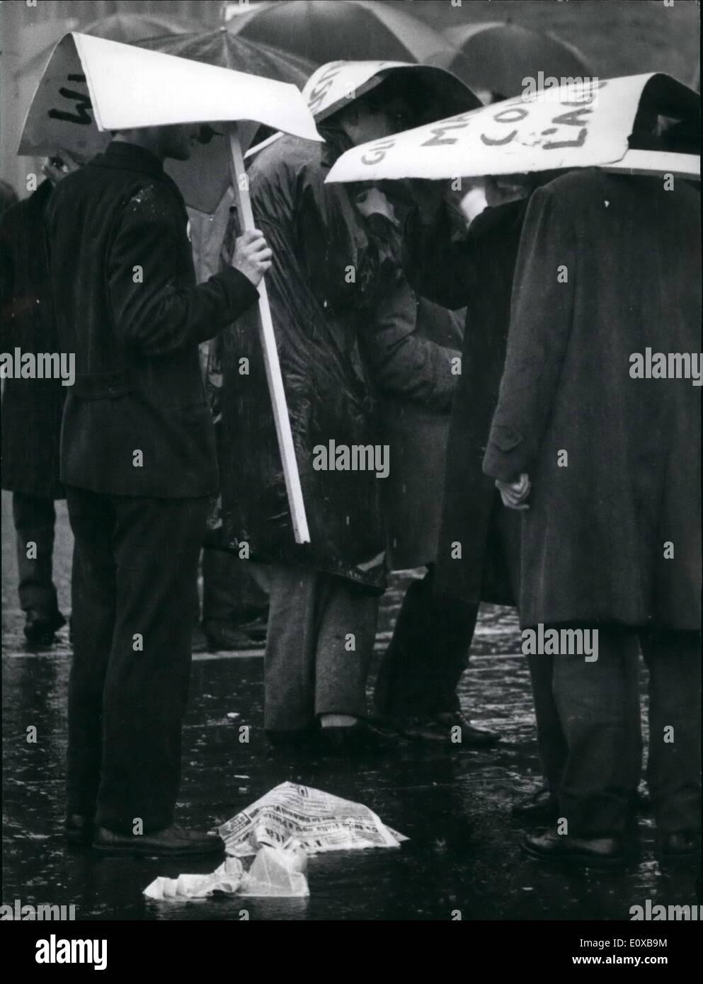 3. März 1966 - inszeniert italienischen Kommunisten Rallyes auf der ...