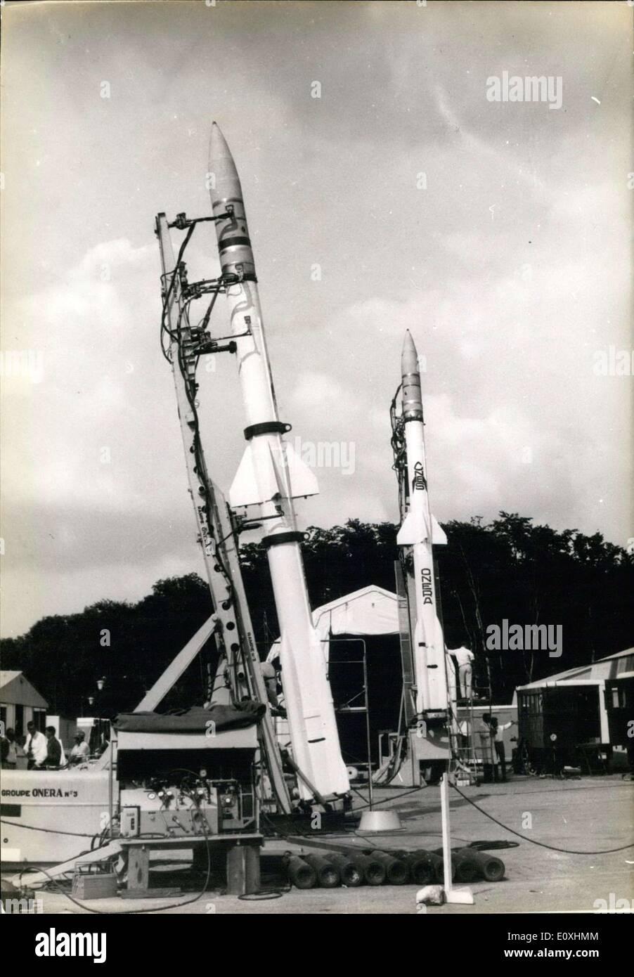 27. Oktober 1966 - Französisch Raumsonde Gemini GT-12 Maßnahme atmosphärische Windgeschwindigkeit Stockbild