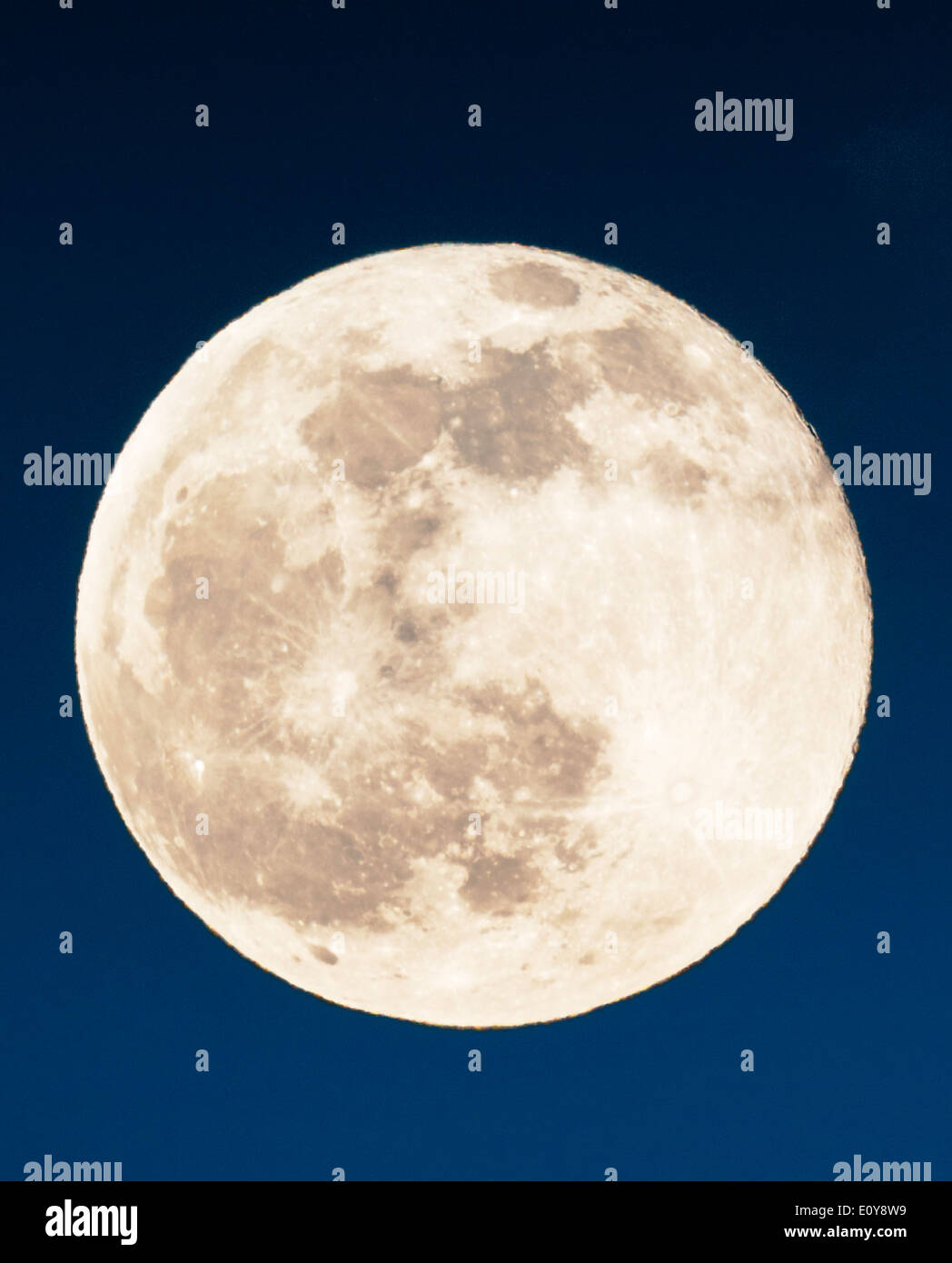 Full Moon rising über Rocky Mountains, Salida, Colorado, USA Stockbild