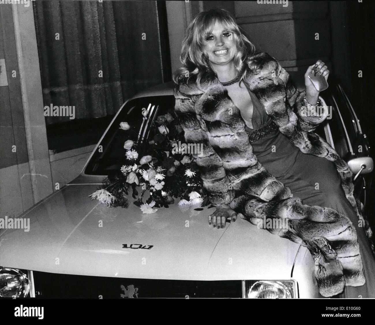 1. Januar 1973 - '' Soiree Der Stars'' In München: Die '' Soiree der Stars war der Höhepunkt der Ballsaison München. Es war, als Stockbild