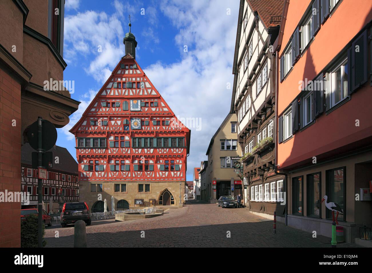 Fachwerkrathaus Und Hotel Stadtschaenke bin Marktplatz von ...
