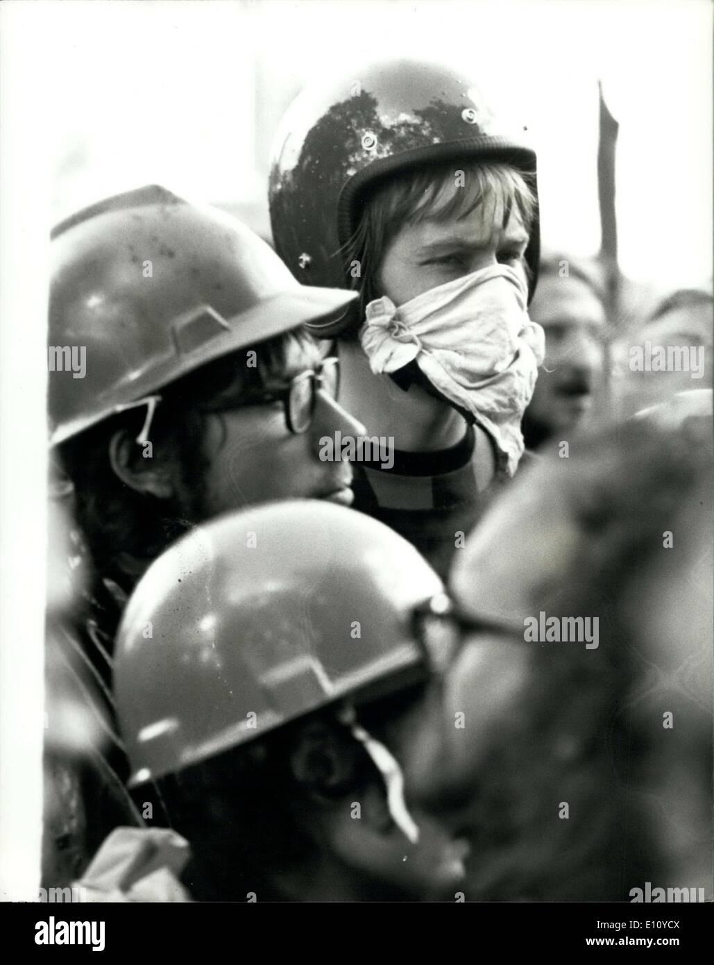 Sept. 07, 1974 - 7. September 1974 Rivalen Demonstranten während London Rallye kollidieren. Schlägereien brach heute Stockfoto