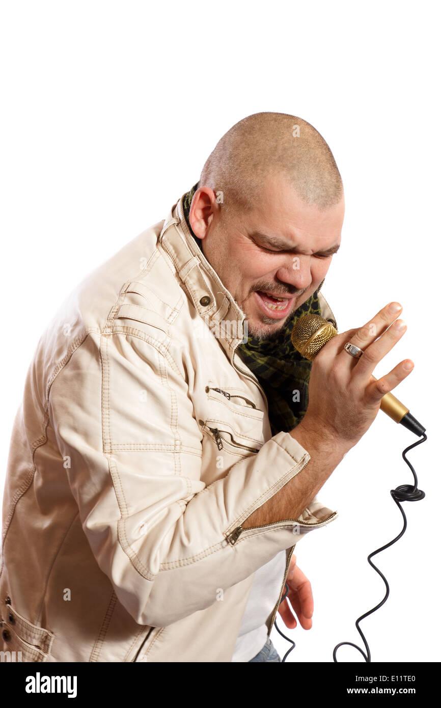 Rock-Sängerin Stockbild