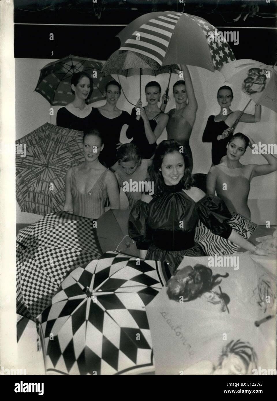 12. Oktober 1983 - wurde Elisabeth Tordjman gestern der Sponsor der neuen 1984 Kollektion der französischen Stockbild