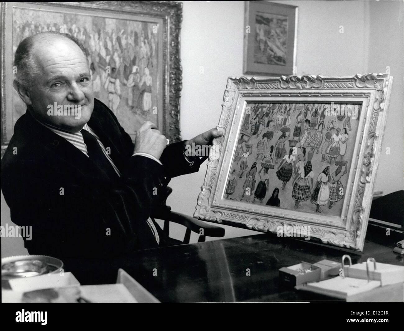 16. Dezember 2011 - eine erstaunliche Persönlichkeit Sir Windham White, hatte ehemaliger Direktor des GATT in Genf bis 1968 und hervorragende Führer der Kennedy-Runde dann eine gute Position danach bei der IOS, kurz vor dem Sprung. Heute ist er erfolgreicher Kunsthändler in Genf, wo er jetzt mit seiner Tochter arbeitet. Ops: Sir Windham als Kunsthändler weiß. Stockbild