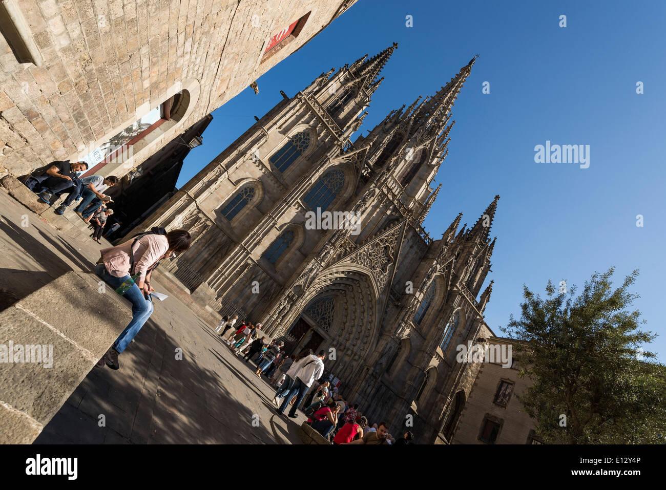 Kathedrale von Barcelona Stockbild