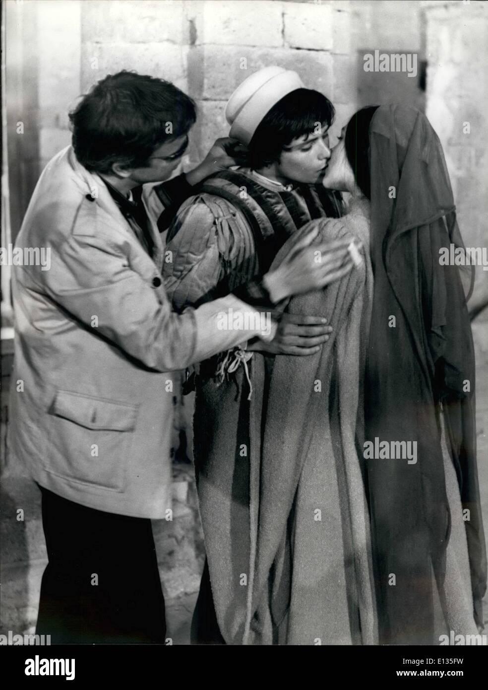 28. Februar 2012 - Tuscania, Juni 1967. Die Hochzeit von Romeo und Julia war die Szene in World Vision dieser Nacht Stockbild
