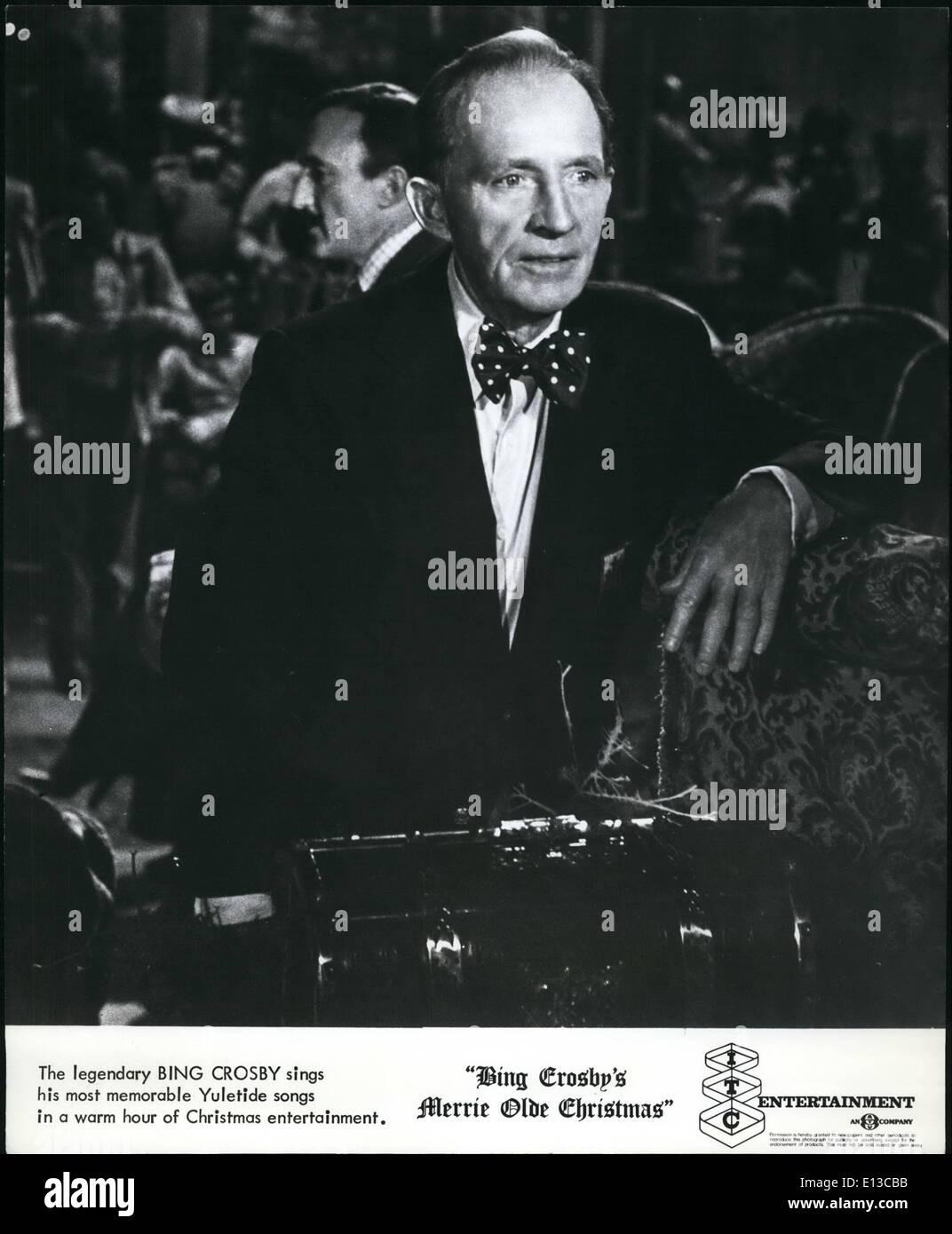 29. Februar 2012 - singt der legendäre Bing Crosby seine denkwürdigsten weihnachtliche Lieder in einer Stockbild