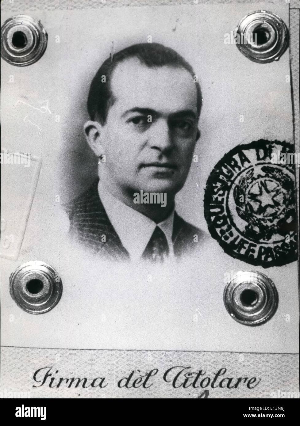 22. März 2012 - beging Dina Silvestroni Selbstmord mit seiner Mutter Laura & Schwester Dina in Nilan, Sept. 1962. Stockbild