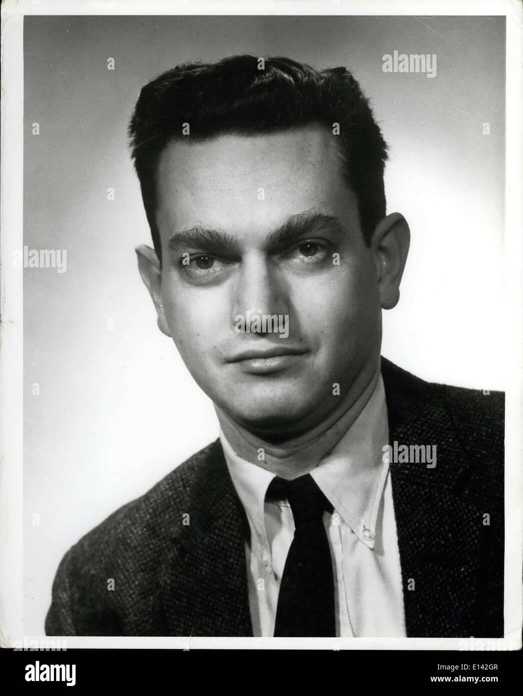 31. März 2012 - 1968 Nobelpreis für Physiologie & Medizin Sieger Dr. Marshall W. Nirenberg. Stockbild
