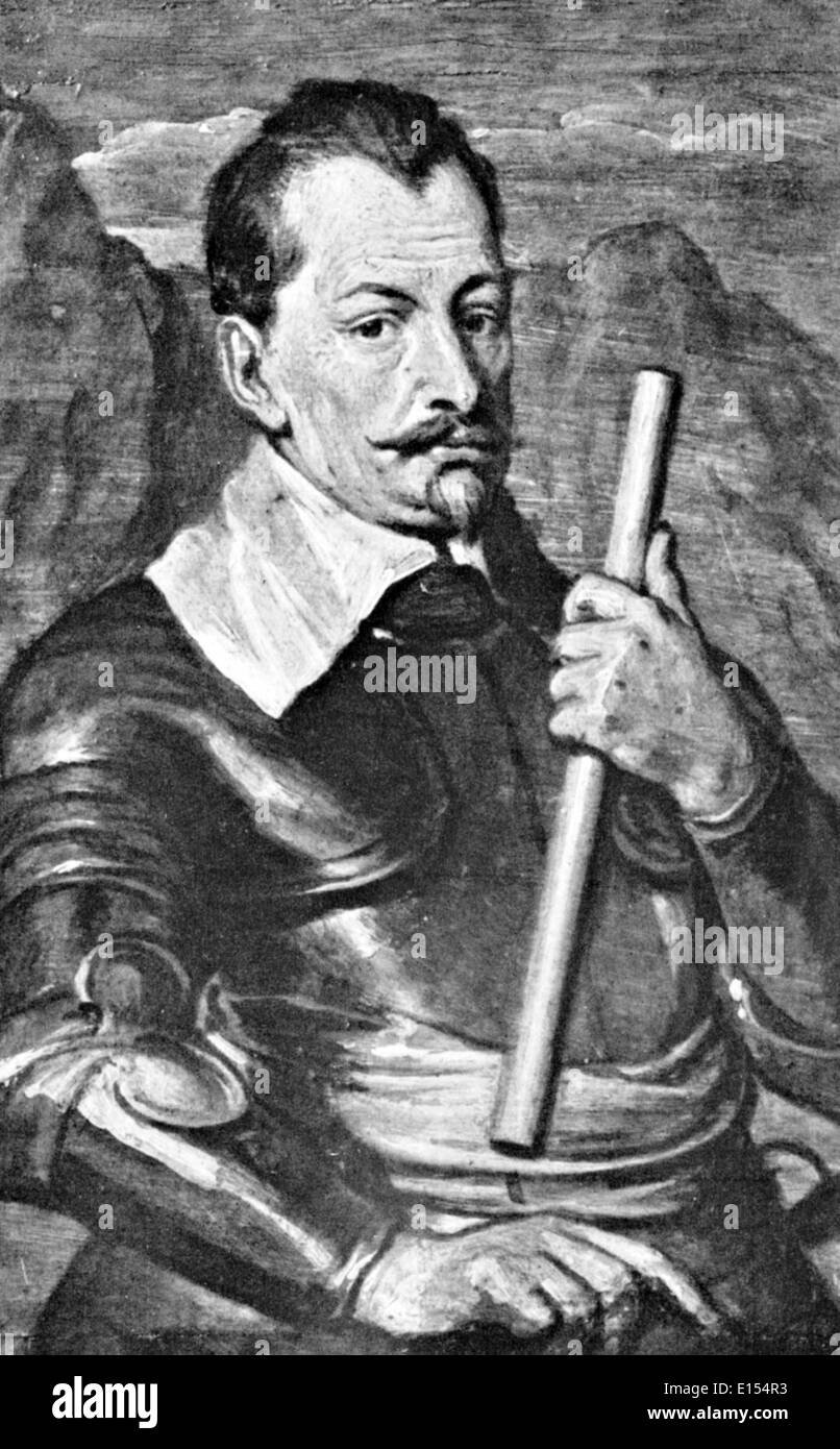 ALBRECHT von WALLENSTEIN (1583-1634) böhmische Heerführer Stockbild
