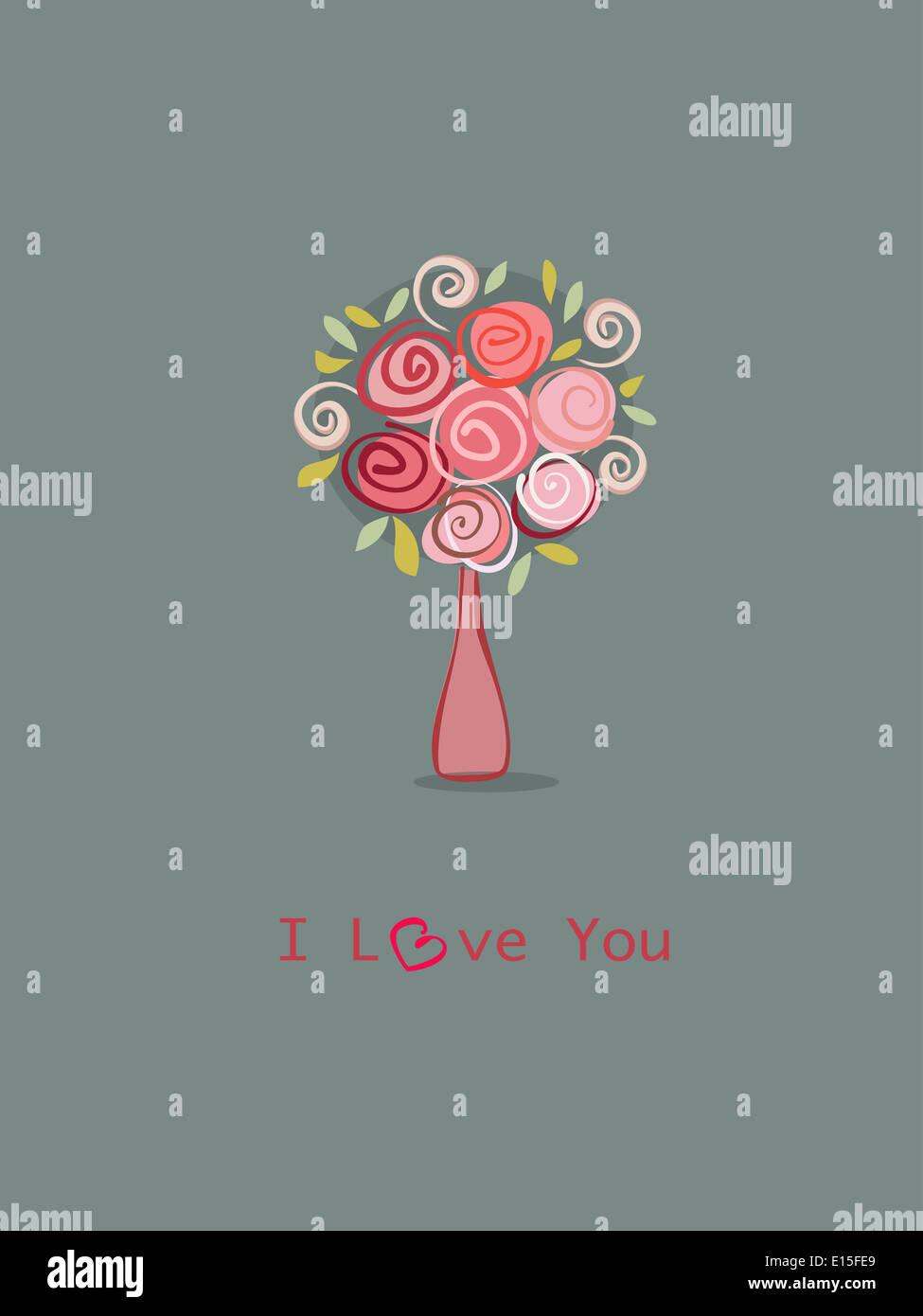 Romantisches Geschenk Rosen Blumen Bukett Und Liebe