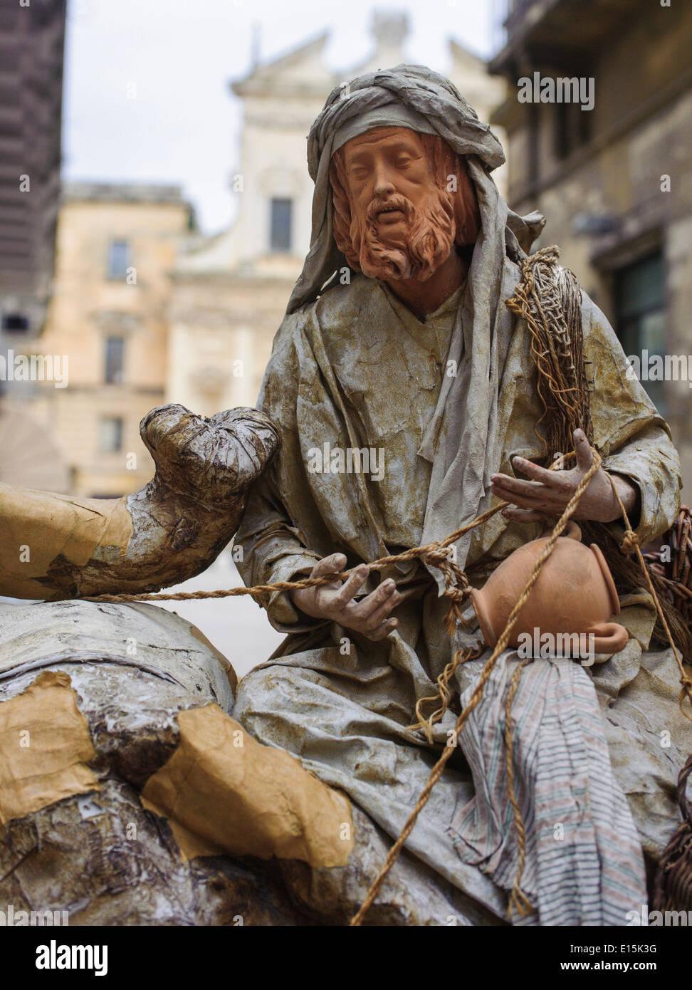 Pappmaché Figuren in Lecce Italien Stockbild