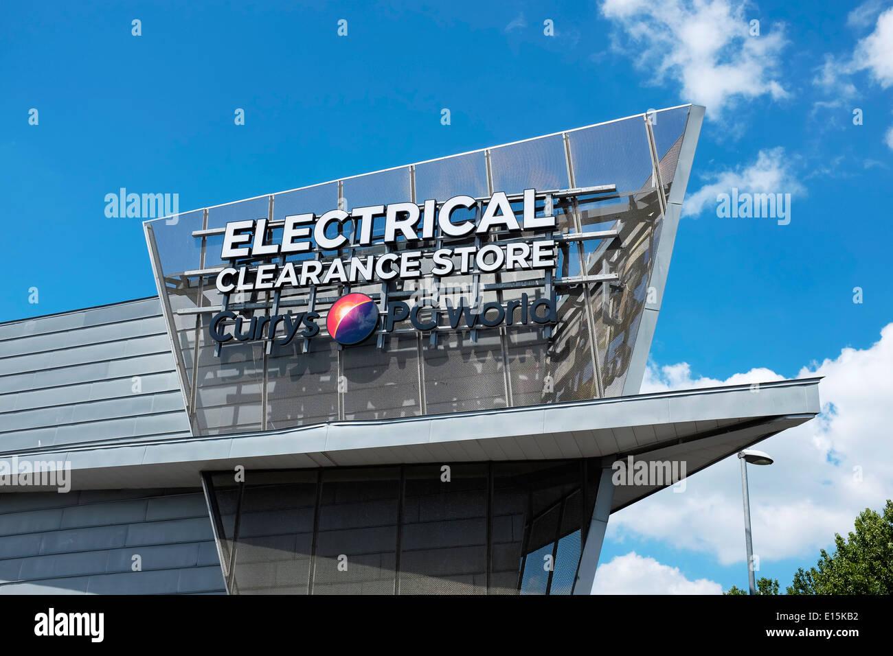 Currys PC Welt elektrische Clearance Store in Manchester UK Stockbild