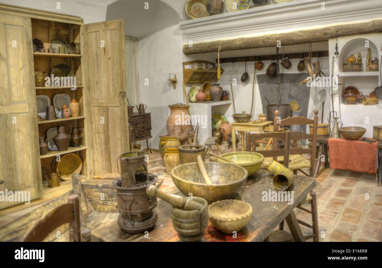 Schon Alte Küche In Einem Primitiven Rustikalen Stil Reproduktion, Badajoz,  Spanien