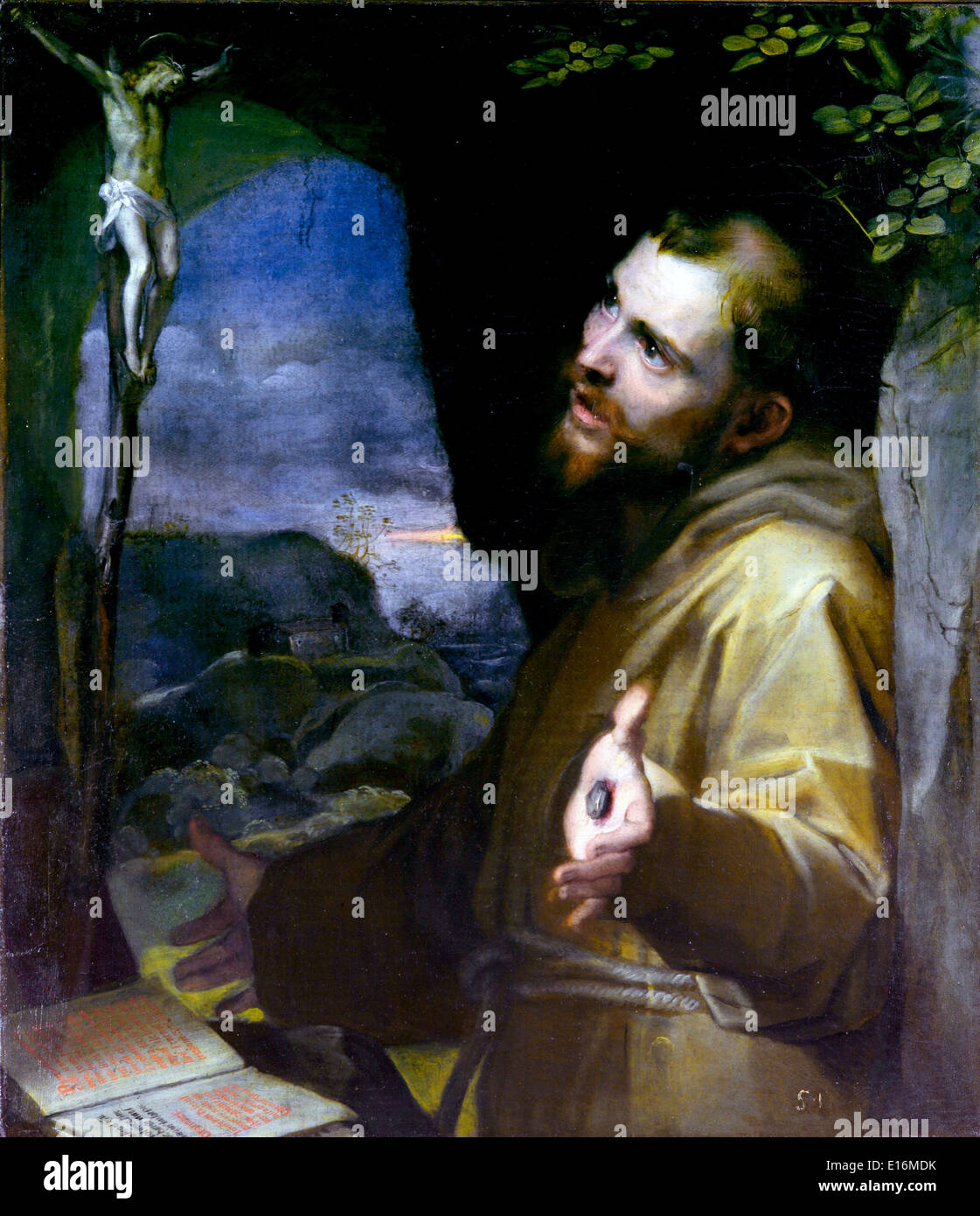 Franziskus von Federico Barocci Stockbild
