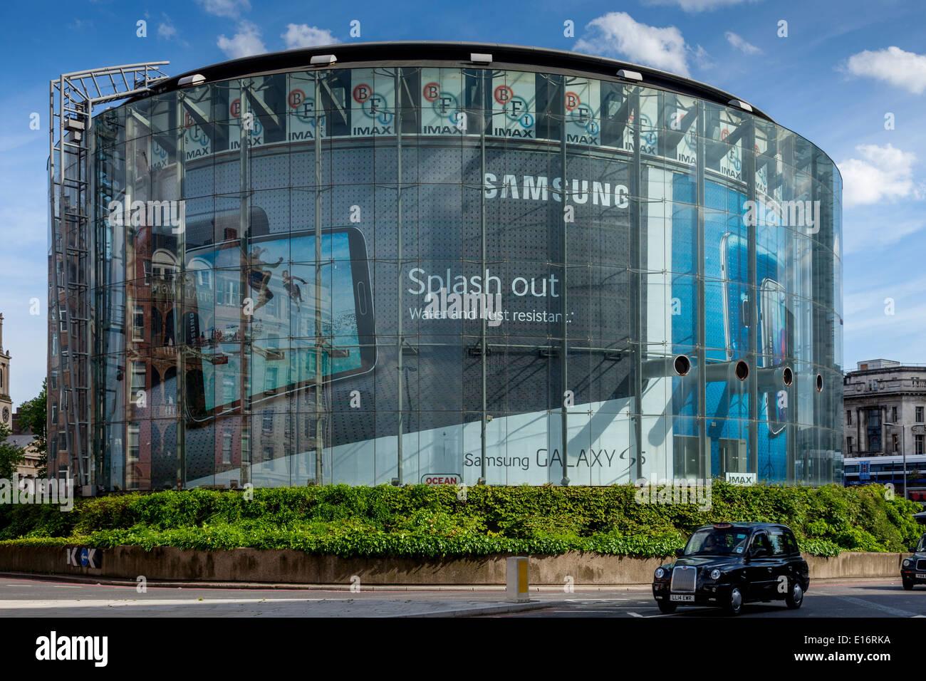 Das BFI IMAX Kino, London, England Stockbild