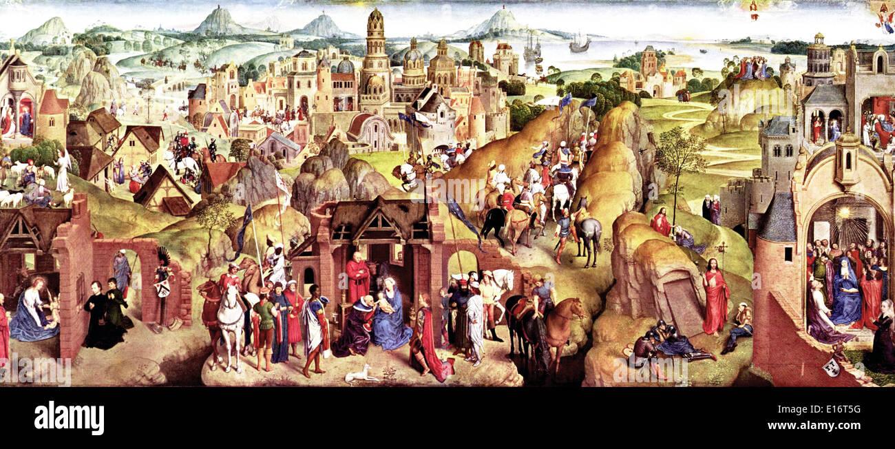 Advents- und Triumph Christi von Hans Memling Stockbild