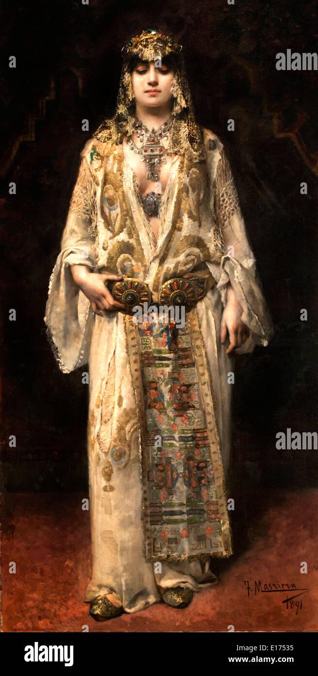 Im Beisein von Herrn 1891 Francesc Masriera 1842-1902 Spanien Spanisch Stockbild