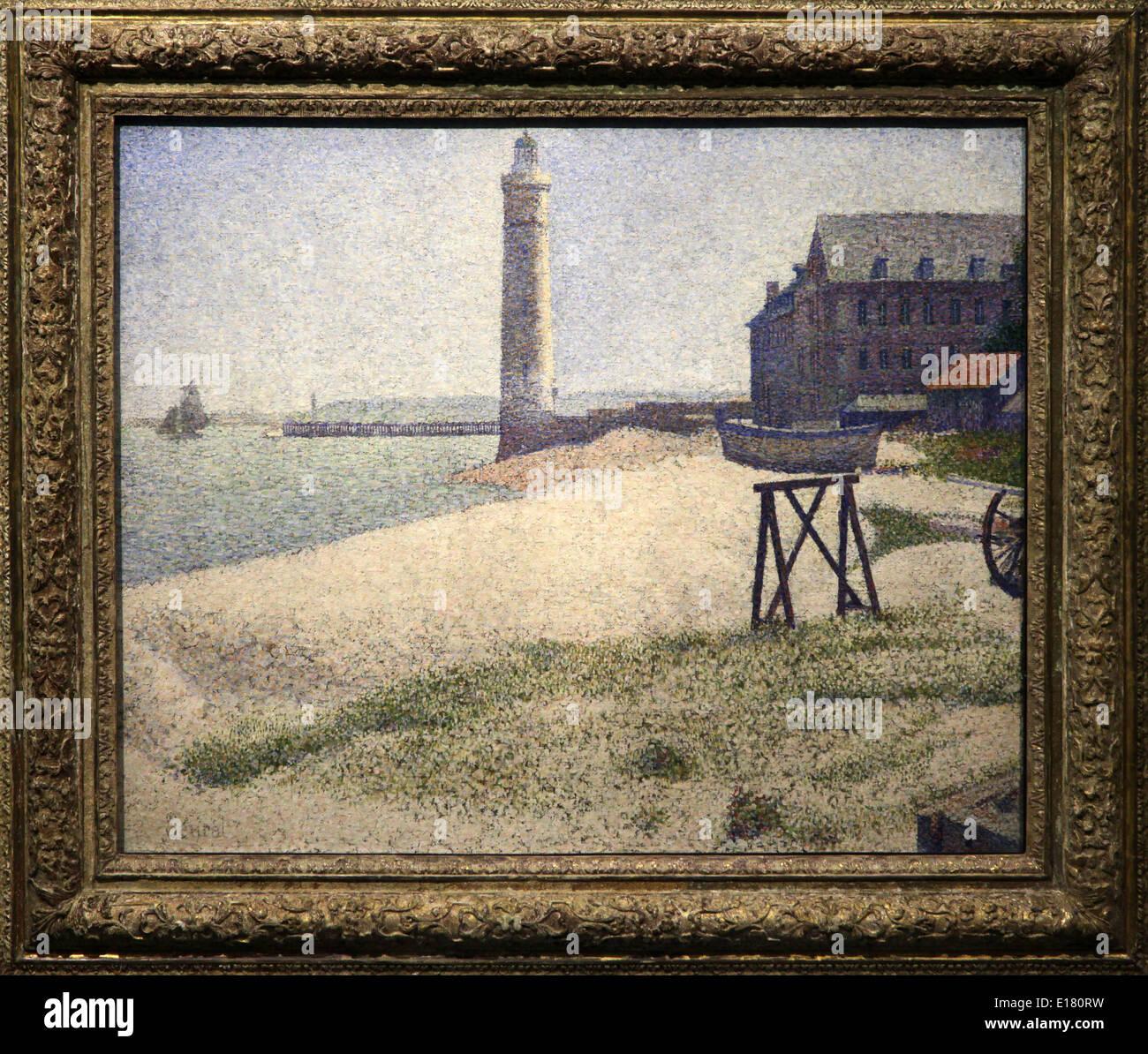Georges-Pierre Seurat 1859-1891 war die französische Post-Impressionisten Maler und Zeichner. Stockbild