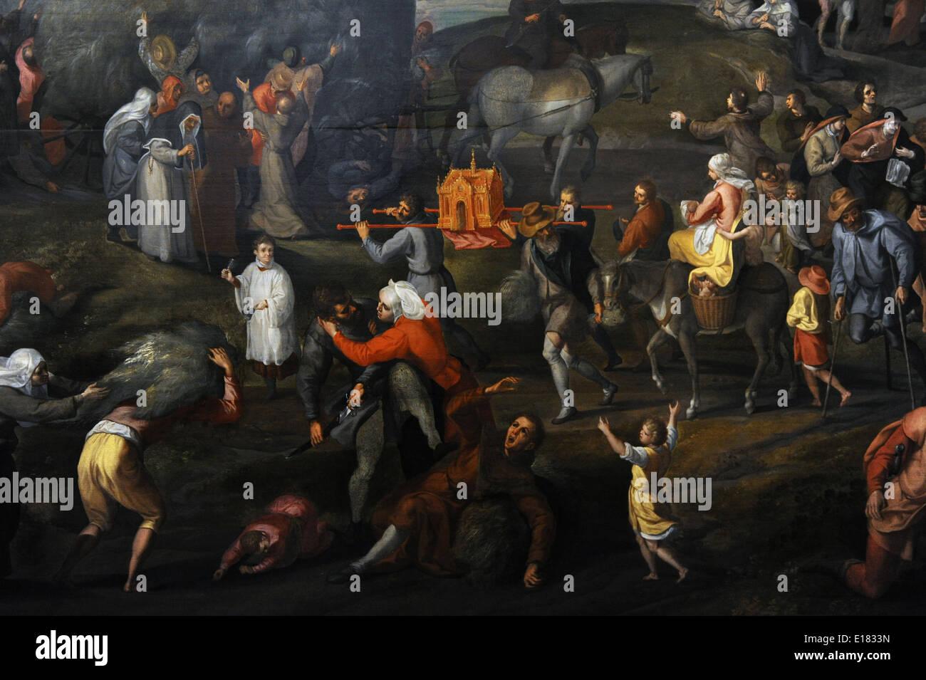 Renaissance. Haycart von Gillis Mostaert (1528-1598). Um 1575. Museum Catharijneconvent. Utrecht. Niederlande. Stockbild