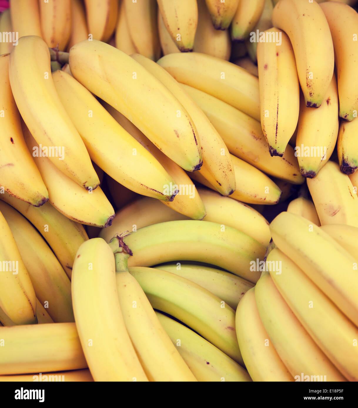 Haufen von reifen Bananen Stockbild