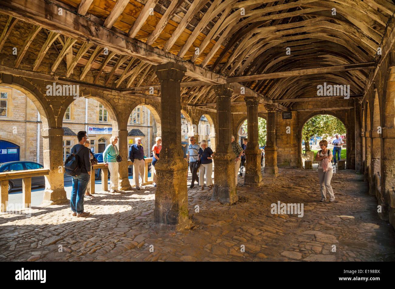 Chipping Campden Markthalle gebaut 1646 High Street Chipping Campden The Cotswolds Gloucestershire England UK EU Europa Stockbild
