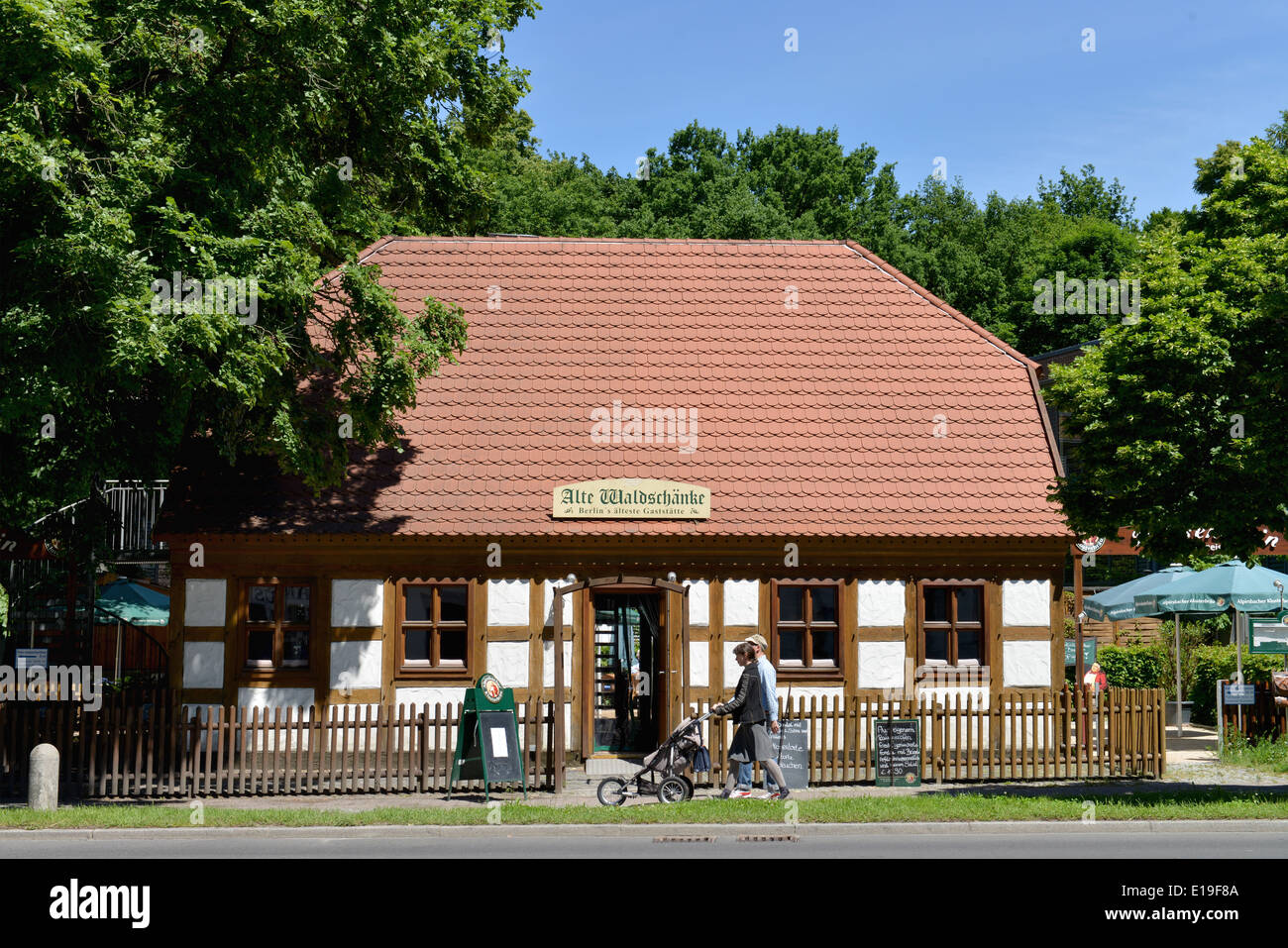 Wiesenstein, Karolinenstraße, Tegel, Berlin, Alte Waldschaenke ...