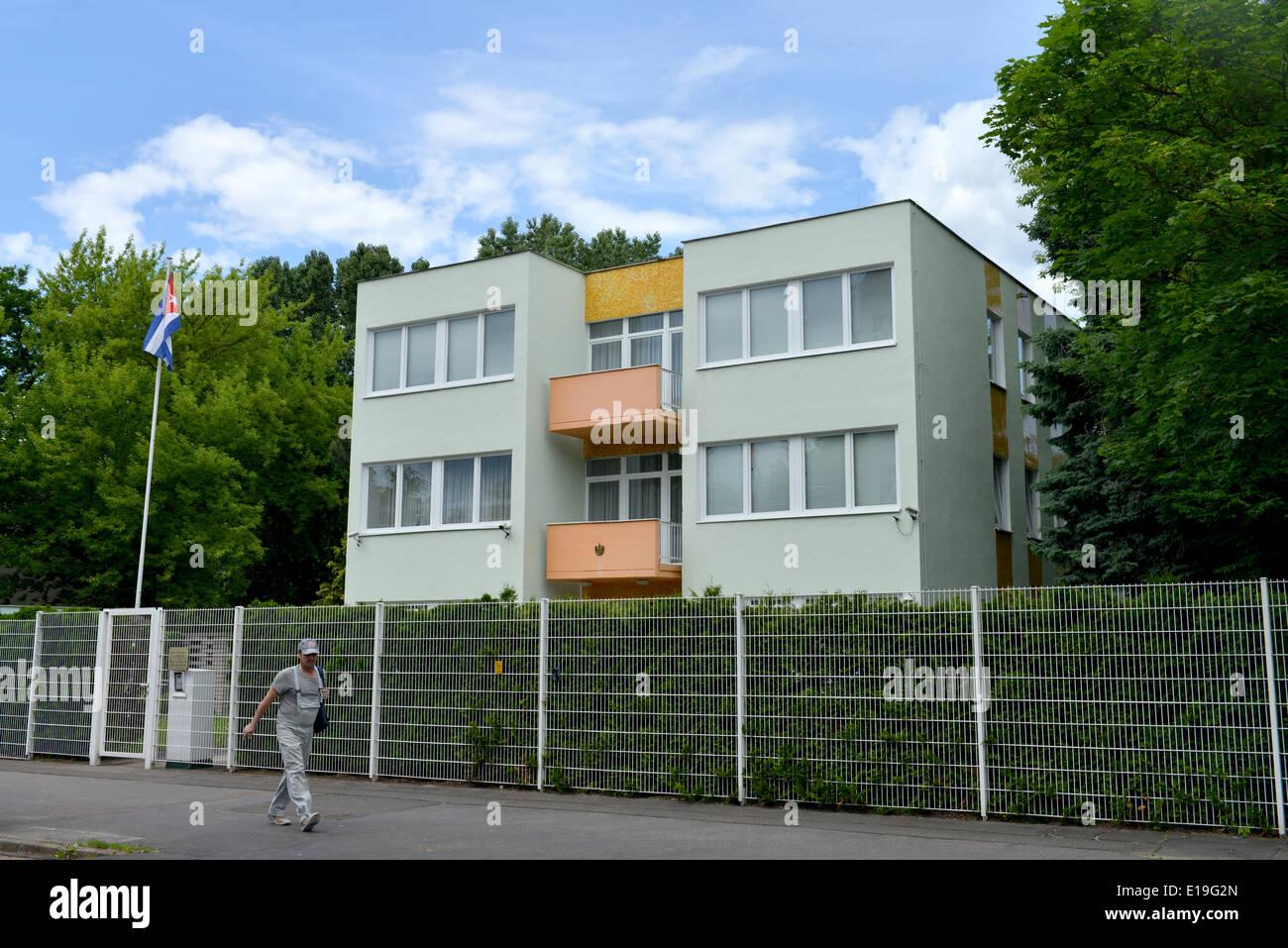 Residenz des Botschafters Republik Kuba, Ibsenstrasse, Pankow, Berlin, Deutschland Stockbild