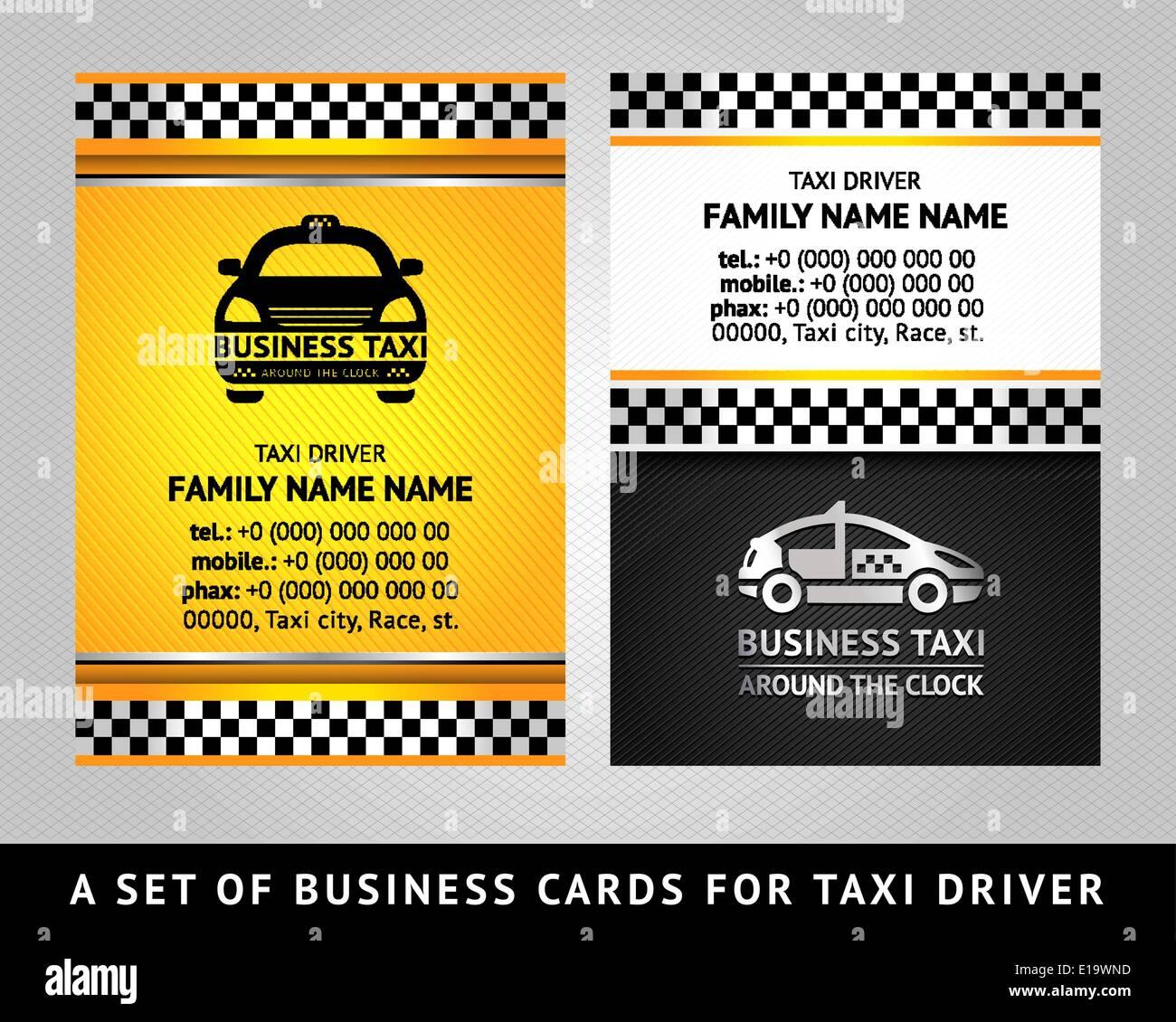 Visitenkarte Taxi Cab Vektor Vorlage 10eps Vektor
