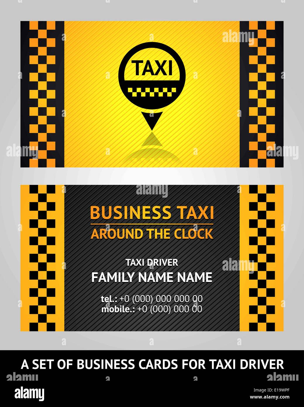 Visitenkarten Taxi Vektor Illustration Vorlage 10eps Vektor