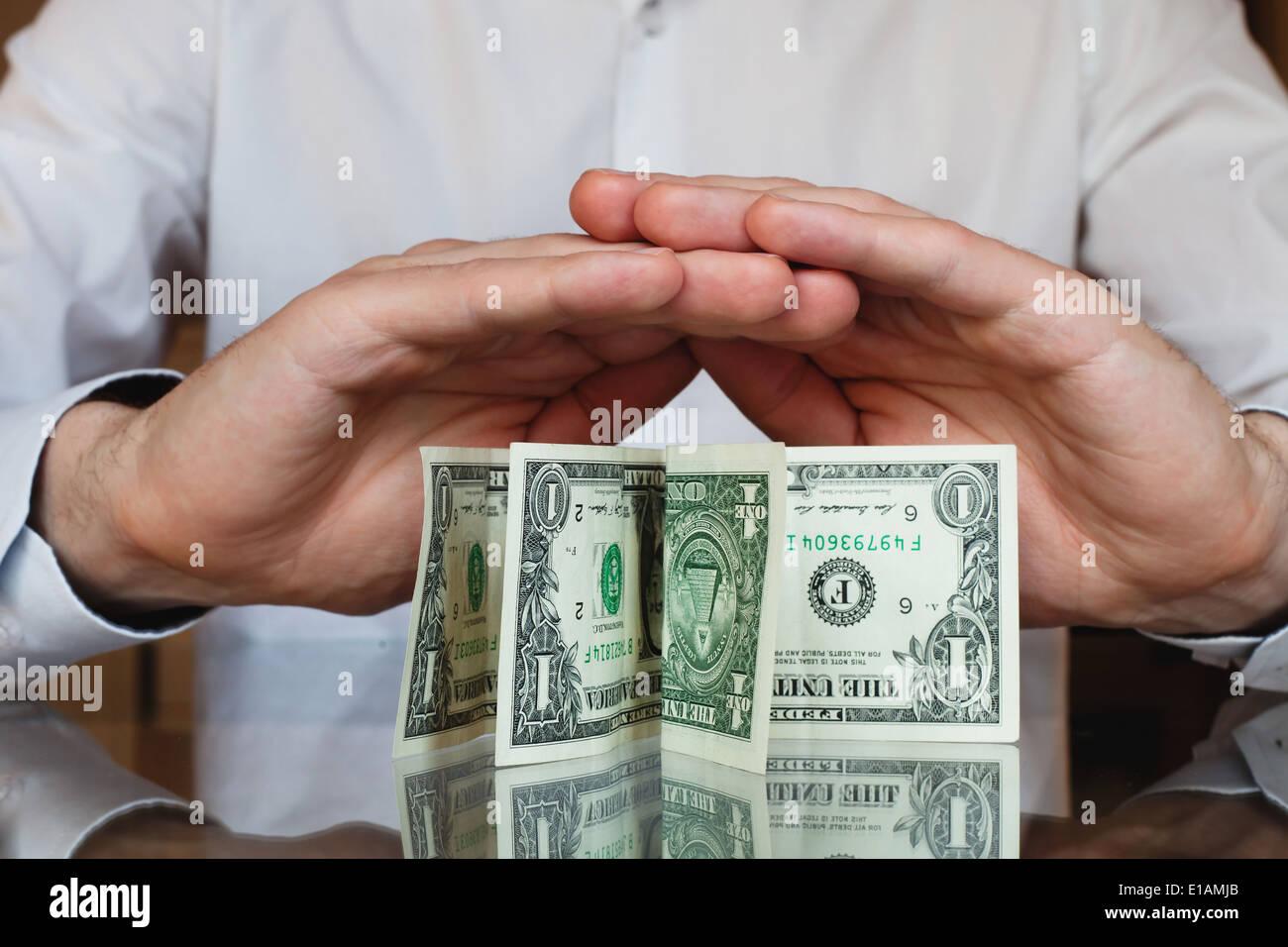 schützen Sie Ihr Geld, inflation Stockbild