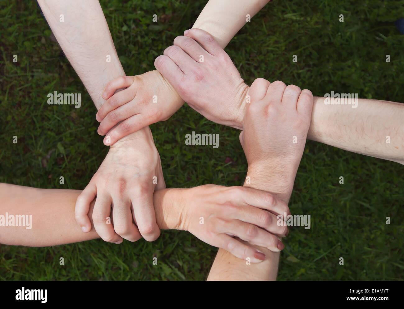 Community-Konzept Stockbild