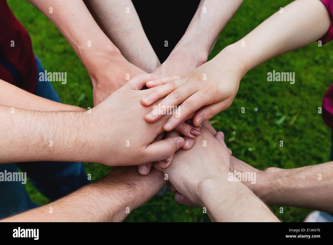 Teamarbeit Stockbild