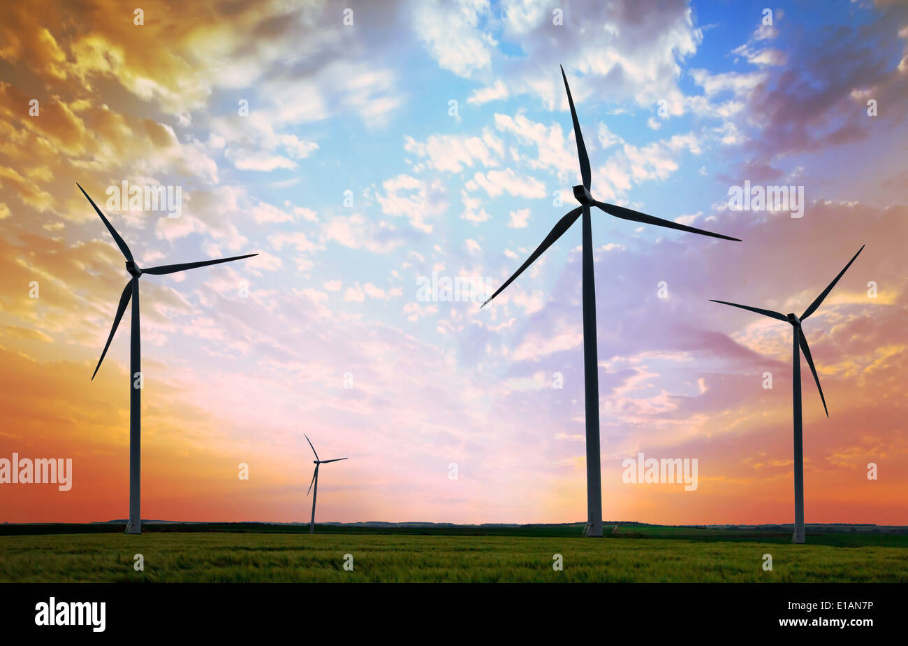 Windkraftanlagen Stockbild