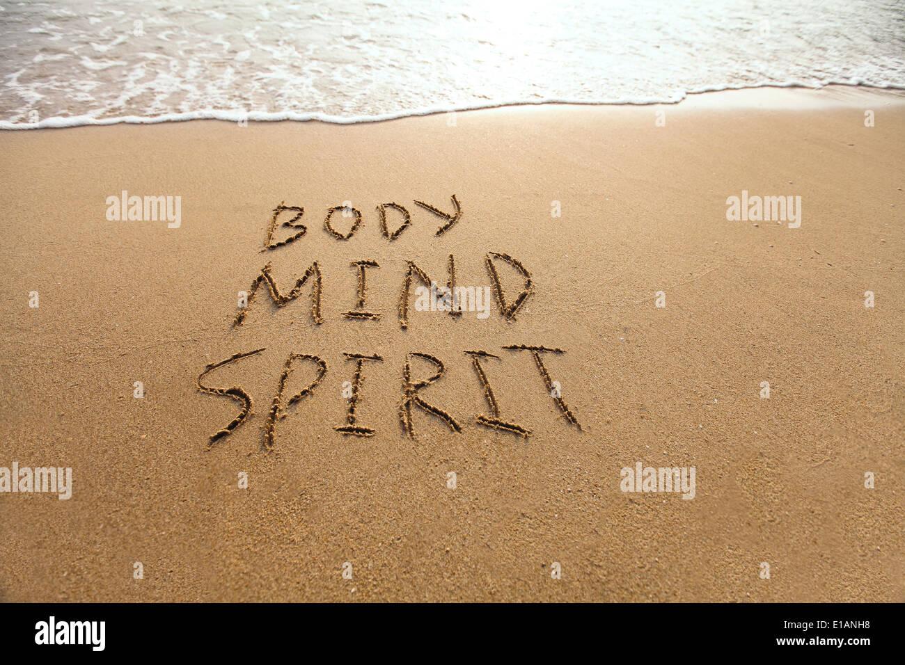 Körper, Geist und Seele Stockbild