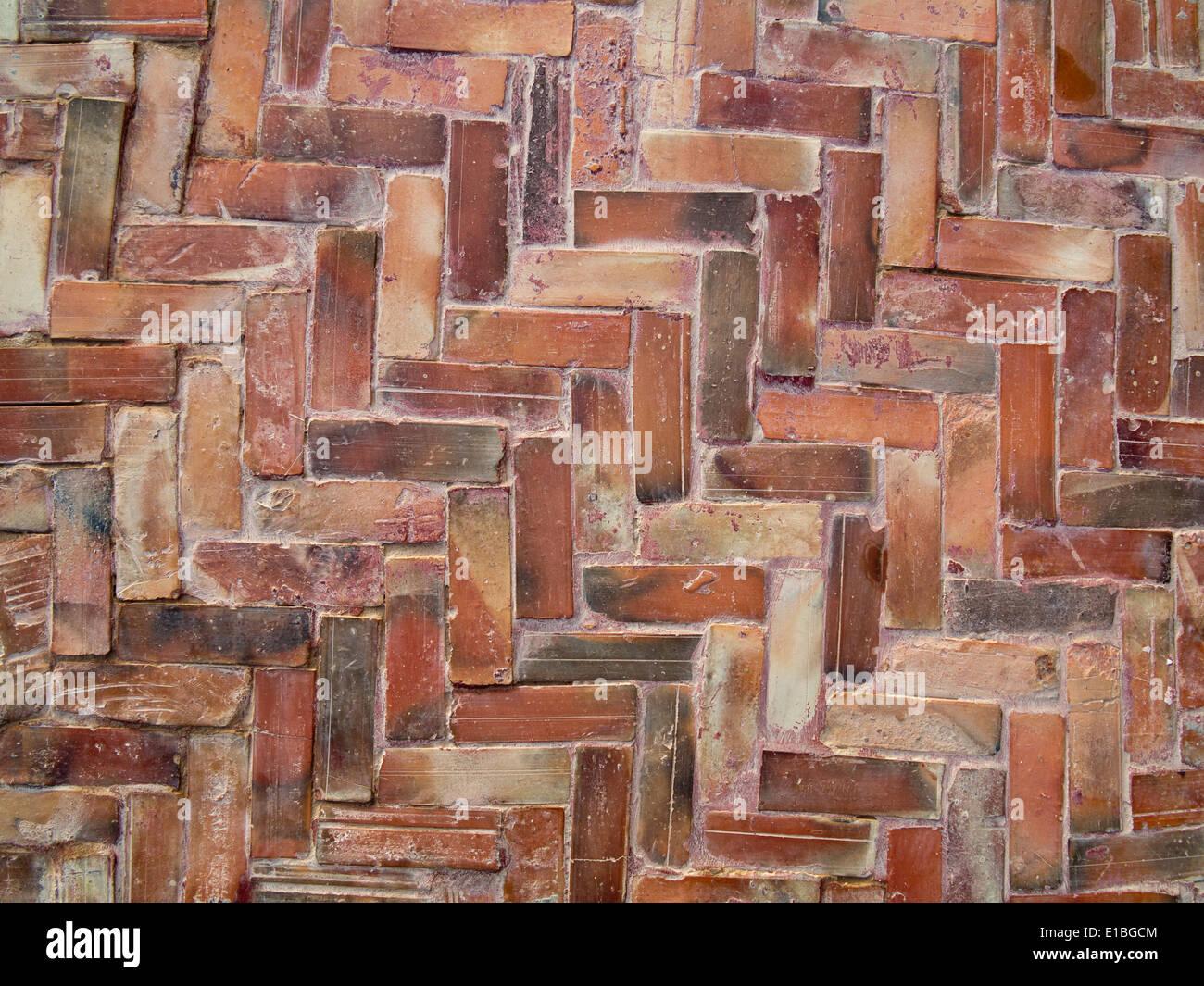 Fußboden Aus Ziegel ~ Schließen sie details von fischgräten ziegel fußboden fliesen