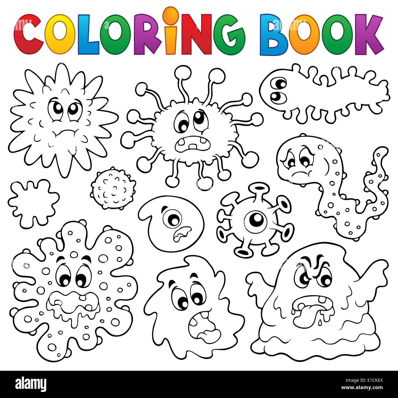 Coloring Book Monster Theme Picture Stockfotos & Coloring Book ...