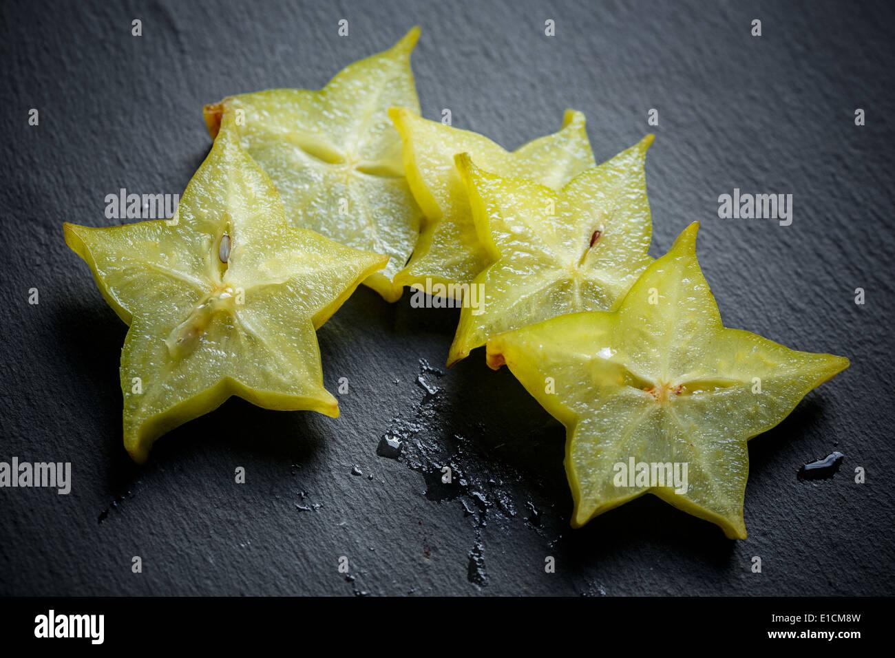 Sternfrucht - Karambolen Stockbild