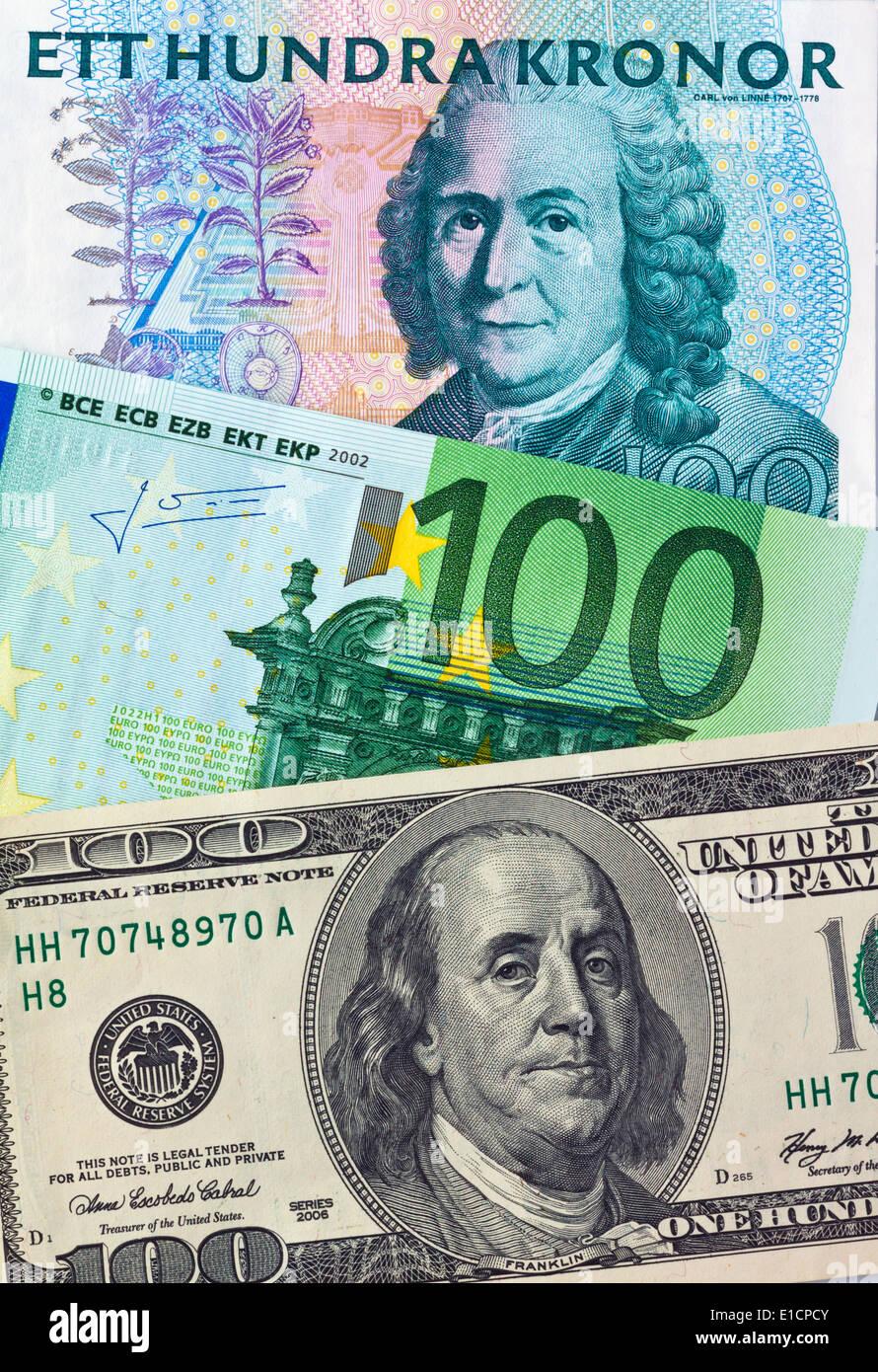 Swedish Krona Euro Stockfotos Und Bilder Kaufen Alamy