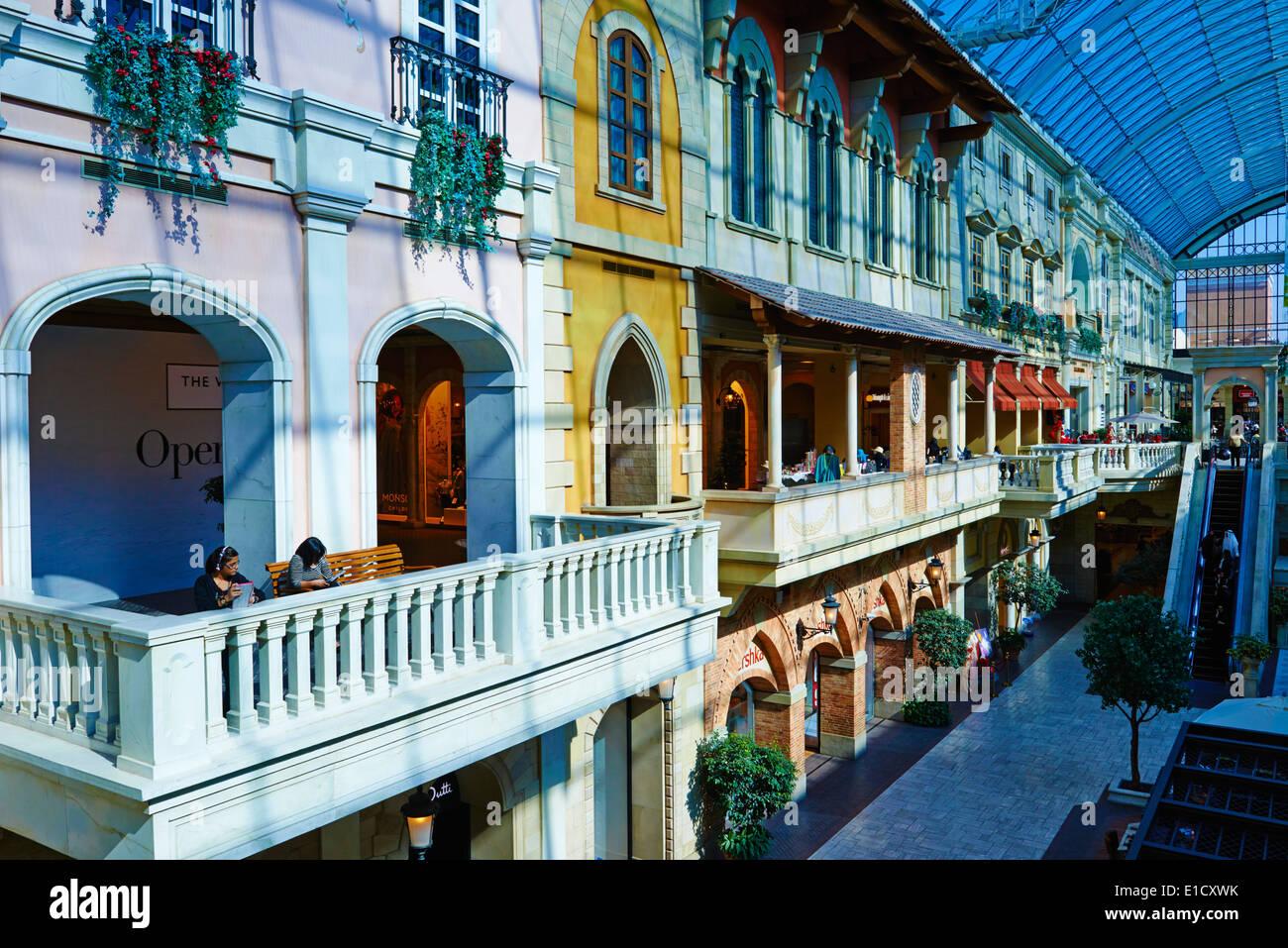 Vereinigte Arabische Emirate, Dubai, Jumeirah Nachbarschaft, Mercato Handelszentrum, italienischen Stil Stockfoto