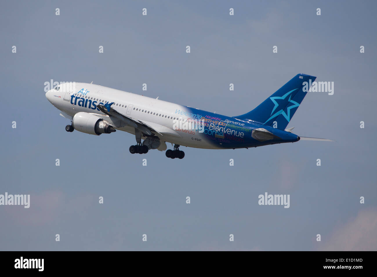 Air Transat Canadian Airlines Airbus A310 300 Ausziehen Stockfoto
