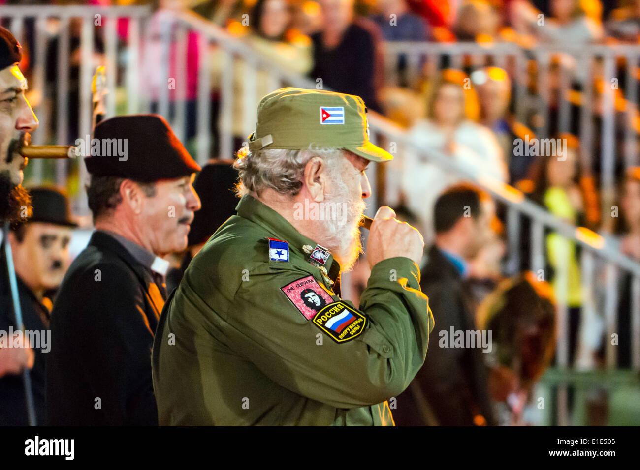 Fidel Castro Kostüm Stockbild