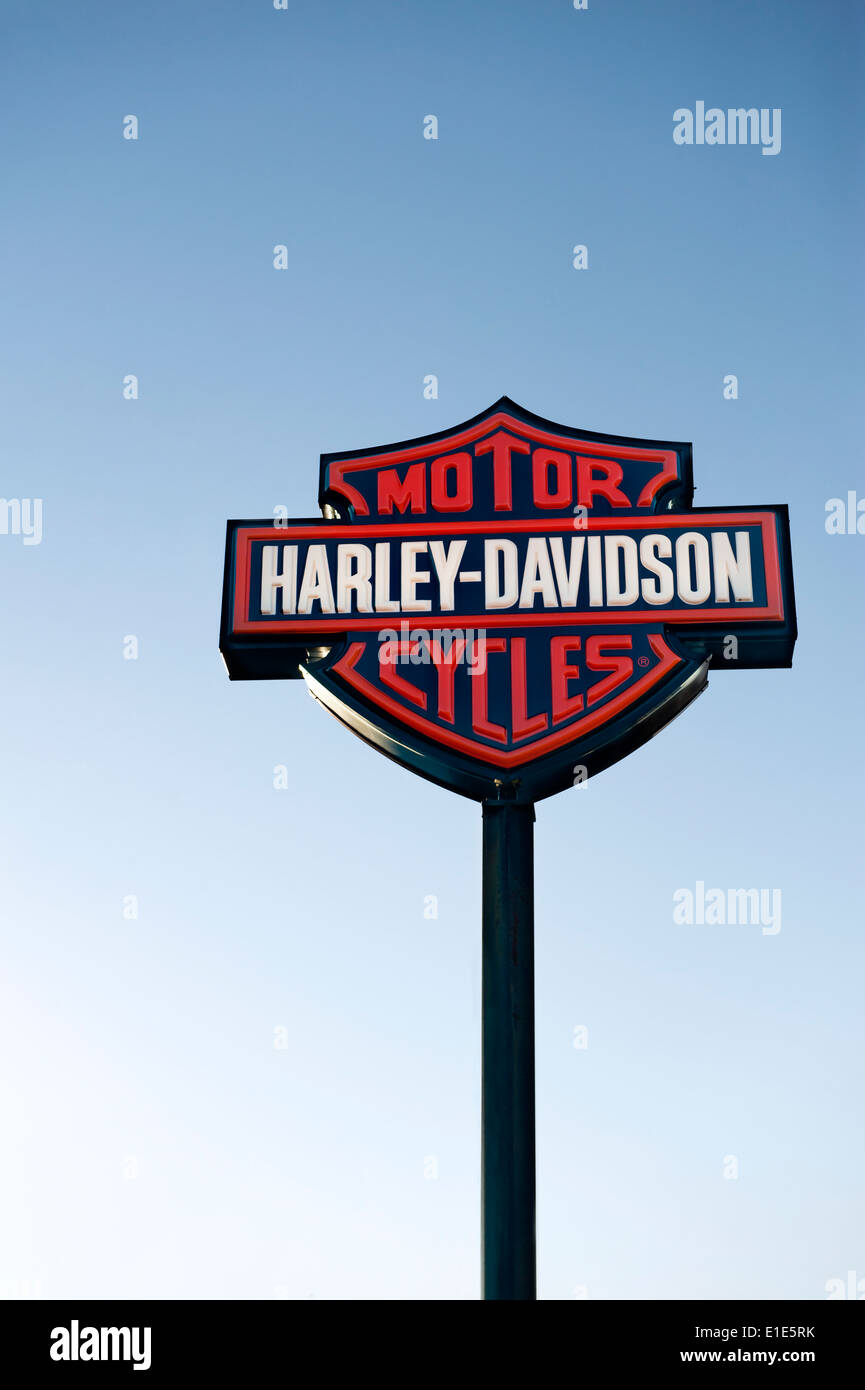 harley davidson shop stockfotos harley davidson shop. Black Bedroom Furniture Sets. Home Design Ideas